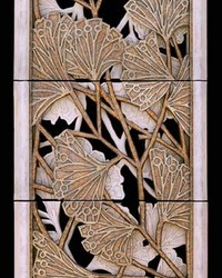 Gingko Leaf Panel 3pc by