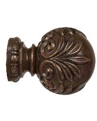 Talia Curtain Rod Finial 3 inch by