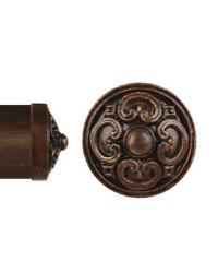 Royal Medallion Curtain Rod Endcap 3 inch by