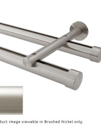 Double Rod Wall Mount H-Rail Curtain Track Brushed Nickel by