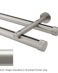 Double Rod Wall Mount H-Rail Curtain Track Satin Nickel by
