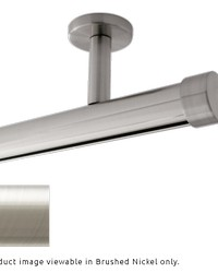 Single Rod Ceiling Mount H-Rail Curtain Track Brushed Nickel by