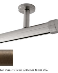 Single Rod Ceiling Mount H-Rail Curtain Track Brushed Bronze by