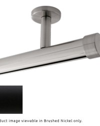 Single Rod Ceiling Mount H-Rail Curtain Track Matte Black by