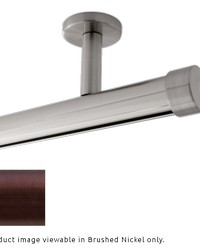 Single Rod Ceiling Mount H-Rail Curtain Track Oil Rubbed Bronze by