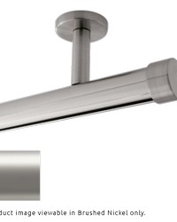 Single Rod Ceiling Mount H-Rail Curtain Track Satin Nickel by