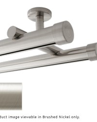 Double Rod Ceiling Mount H-Rail Curtain Track Brushed Nickel by