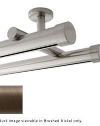Double Rod Ceiling Mount H-Rail Curtain Track Brushed Bronze by