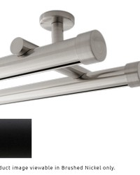 Double Rod Ceiling Mount H-Rail Curtain Track Matte Black by