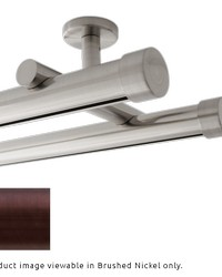 Double Rod Ceiling Mount H-Rail Curtain Track Oil Rubbed Bronze by