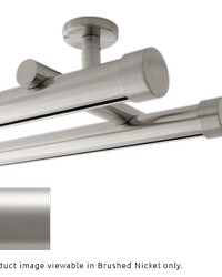Double Rod Ceiling Mount H-Rail Curtain Track Satin Nickel by