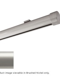Single Rod Ceiling Clip Low Profile H-Rail Curtain Track Satin Nickel by