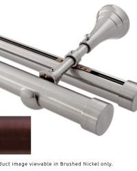 Mixed Double Rod Wall Mount H-Rail Curtain Track Oil Rubbed Bronze by