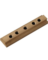 H-Rail Connector Brass by  Finestra
