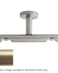 H-Rail Double Ceiling Bracket Antique Brass by  Finestra