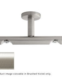 H-Rail Double Ceiling Bracket Brushed Nickel by  Finestra