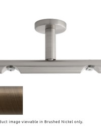 H-Rail Double Ceiling Bracket Brushed Bronze by  Finestra