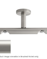 H-Rail Double Ceiling Bracket Satin Nickel by  Finestra