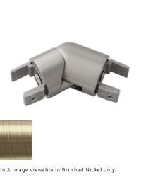 H-Rail Elbow Antique Brass by  Finestra