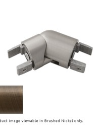H-Rail Elbow Brushed Bronze by  Finestra