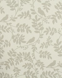 Brown Birds Fabric  Botany Flora Taupe