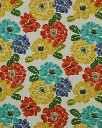 Large Print Floral Fabric  Brushed Floral Calypso
