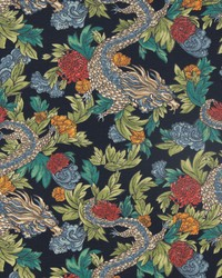 Blue Oriental Fabric  Ming Dragon Admiral