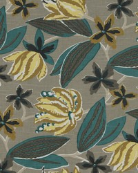 Grey Large Print Floral Fabric  Bright Floral Greystone