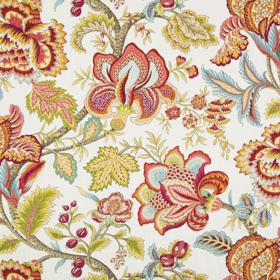 Robert Allen Fabrics Jacobean Swag Coral