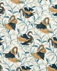 Gold Oriental Fabric  Swanwood Bronze