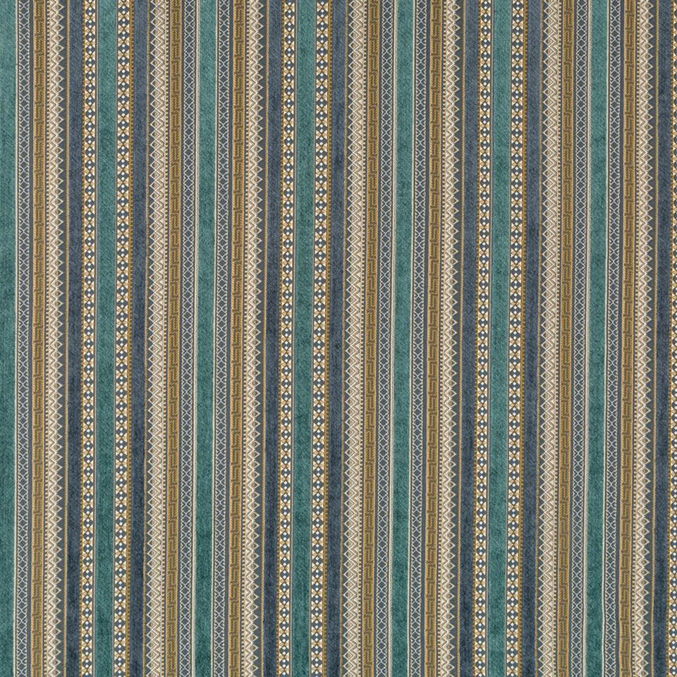 Robert Allen Fabrics Fair Isle Blue Pine