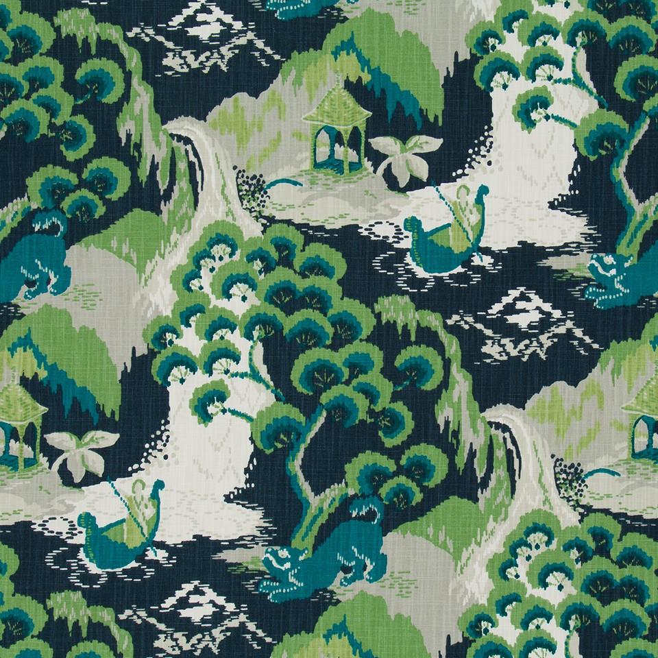 Robert Allen Fabrics Road To Canton Marrakech Green