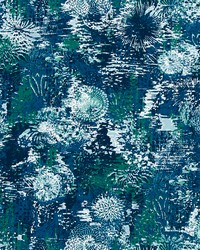 Blue Marine Life Fabric  Fezara Deep Pool