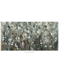 White Blooms with Navy II by