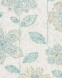 Maisie Teal Batik Flower by
