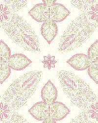 Off Beat Ethnic Pink Geometric Floral by