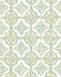 Geo Green Quatrefoil by