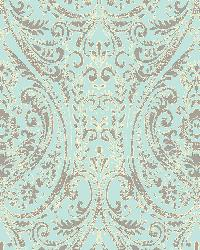 Gypsy Turquoise  Damask by