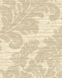 Anders Grey Grasscloth Damask by