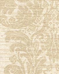 Anders Brown Grasscloth Damask by
