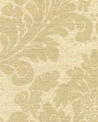 Anders Beige Grasscloth Damask by