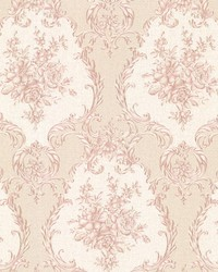 Viola Pink Damask by  Brewster Wallcovering