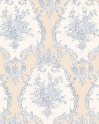 Viola Blue Damask by  Brewster Wallcovering