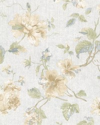 Marnie Blue Peony Trail by  Brewster Wallcovering