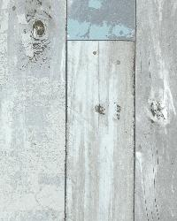 Dean Blue Distressed Wood Panel by