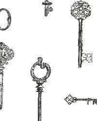 Addison Black Vintage Keys by