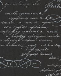 Ferdinand Black Poetic Script by  Brewster Wallcovering
