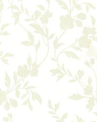 Layla Light Green Floral Trail Silhouette by