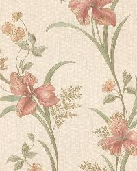 Misty Peach Lily Trail by  Brewster Wallcovering