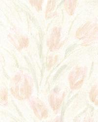 Jessamine Blush Tulips by  Brewster Wallcovering